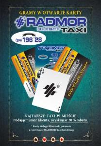 RADMOR Taxi Kołobrzeg - gramy w otwarte karty.