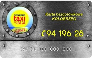 Karta Bezgotówkowa Radmor Taxi Kołobrzeg Awers