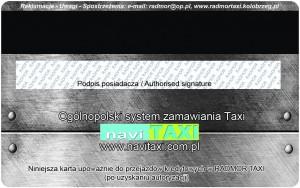 RADMOR Taxi Kołobrzeg - Karta Bezgotówkowa RT Revers