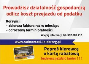 Radmor Taxi Kołobrzeg - oferta bezgotówkowa