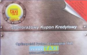 RADMOR Taxi Kołobrzeg - Jednorazowy Kupon Kredytowy RT avers