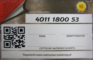 RADMOR Taxi Kołobrzeg - Jednorazowy Kupon Kredytowy RT revers