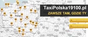Taxi Polska 19 100 miasta - zasięg ogólnopolski