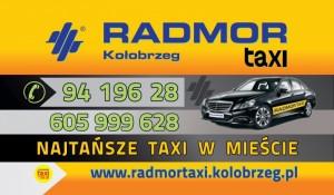 RADMOR Taxi Kołobrzeg kontakt telefoniczny: (94) 196-28.