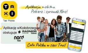 24/7 TAXI tel.: (94) 196-28. Radmor i Nord Taxi Kołobrzeg. Aplikacja TAXI POLSKA.