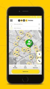 Aplikacja Taxi Polska z Radmor Taxi Kołobrzeg.